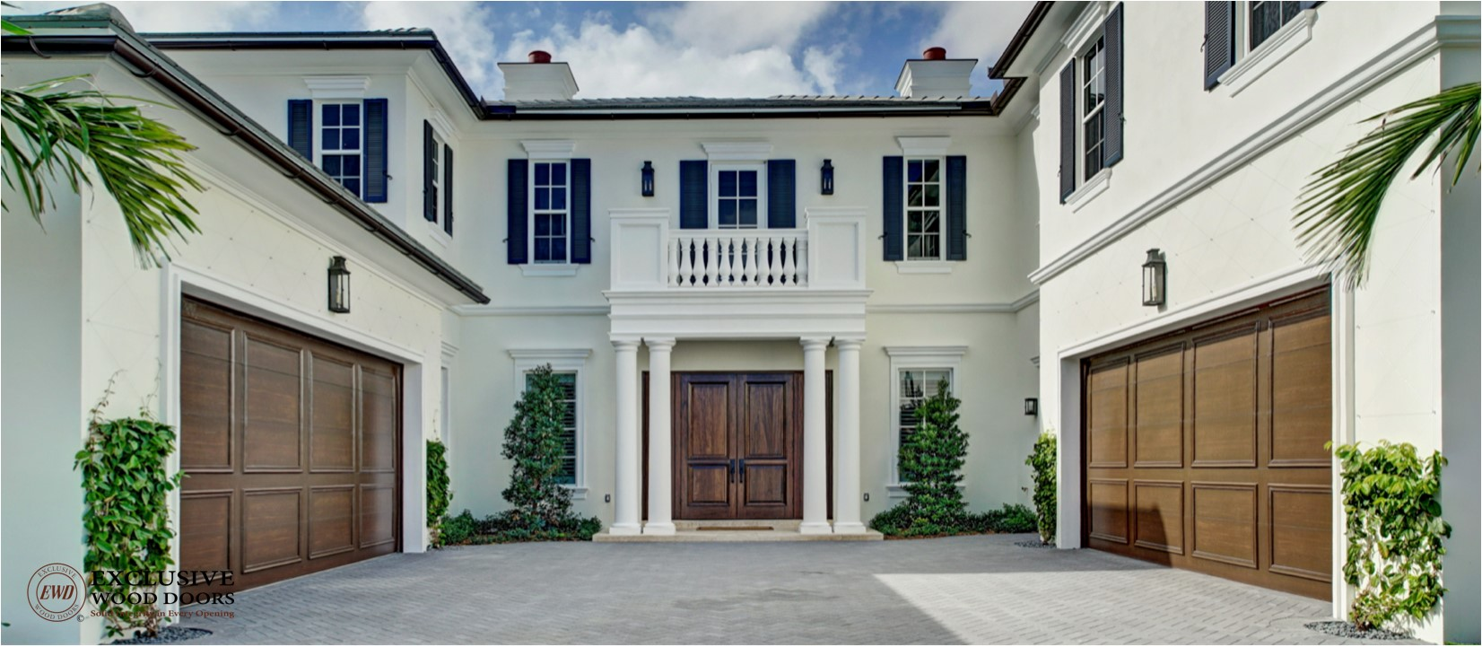 Image Courtesy of J.P. DiMisa Luxury Homes Inc. & Exclusive Wood Doors - custom wood exterior doors