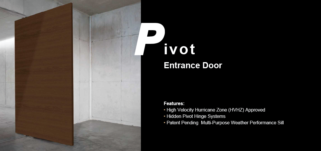 Flush Wood Pivot Entrance Door Website Banner